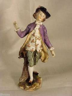 Volkstedt Porcelain Figure of Young Gentleman 4h