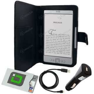 for  Kindle 4 (2011)   Folio Carry Case Cover+USB Cable/Cord