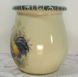 Ware Pottery Rooster/Chicken Kitchen Gadget Jar Crock USA made