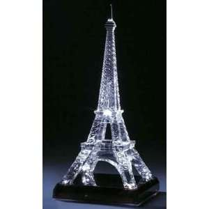 LED Light Up Acrylic Battery Operated Eiffel Tower Sculpture Home
