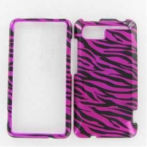HTC Vivid Zebra on Hot Pink Hot Pink/Black Protective Case