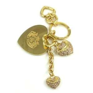 Juicy Couture Keychain Pave Heart Keyfob Jewelry