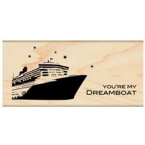 Dreamboat Wood Mounted Stamp (Penny Black) Arts, Crafts