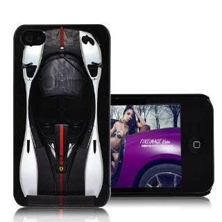 Koolshop Ferrari iphone 4 snap on hard case cover   black