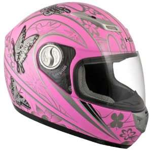 with Pretty Butterflies Full Face Motorcycle Helmet   Size  Medium