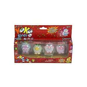 KooKoo Bird Flocked Koollectibles Series 2 Dolls 4 Pack