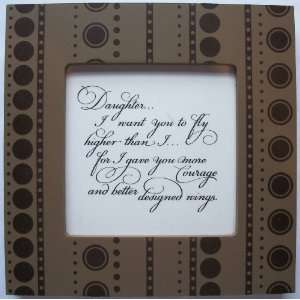 Kindred Hearts Inspirational Quote Frame (6 x 6 Brown Dot