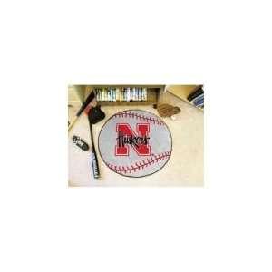 Nebraska Huskers NCAA Baseball Round Floor Mat (29