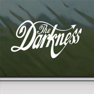 The Darkness White Sticker Metal Rock Band Laptop Vinyl