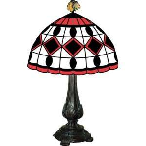 Chicago Blackhawks Stained Glass Tiffany Table Lamp