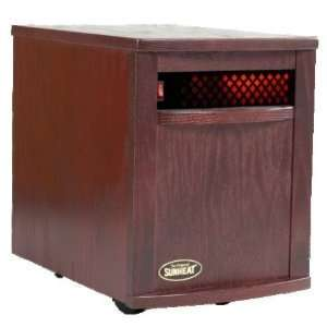 Sunheat 1500 Watt Infrared Room Heater   Black Cherry