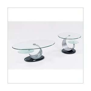 USA Juno Glass Top Occasional Coffee Table Set Furniture & Decor