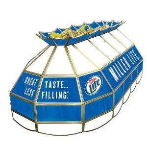 Miller Lite Stained Glass 40 Inch Lighting Fixture   Game
