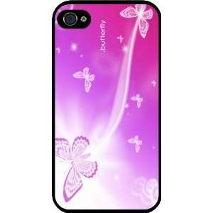 Rikki KnightTM Butterflies on Pink background Black Hard