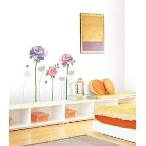 ROSE FLOWER DECOR MURAL ART WALL PAPER STICKER KR 0017