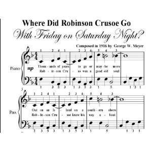 Friday On Saturday Night Big Note Piano Sheet Music Geoge W. Meyer