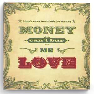 com Demdaco 100340 Money Cant Buy Me Love Wall Art Everything Else