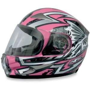 AFX FX 90 Full Face Motorcycle Helmet Passion Silver/Pink