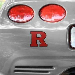 Rutgers Scarlet Knights Team Logo Car Decal  Automotive
