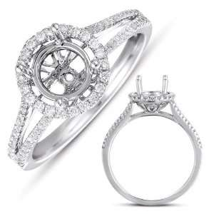 Kashi and Sons EN7331WG White Gold Engagement Ring   14KW Ring Size