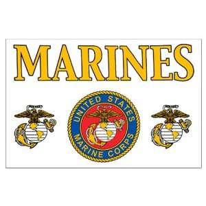 Large Poster Marines United States Marine Corps Seal