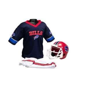 Buffalo Bills Kids Small NFL Helmet & Uniform Set Sports