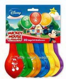 now free 10pc mickey mouse donald duck birthday party balloon