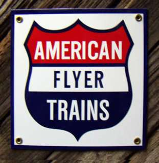 VINTAGE AMERICAN FLYER TRAIN SET CARS TRACK DECORATIONS
