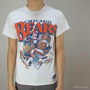 Vtg 80s CHICAGO BEARS Jack Davis Cartoon NFL t shirt SMALL