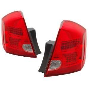 2007 2009 Nissan Sentra KS LED Red/Clear Tail Lights Automotive