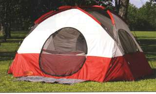 New 6 Man Person 2 Room Family Camping Dome Tent 13x10
