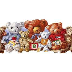 Teddy Bears Wallpaper Border in Bright Ideas: Home