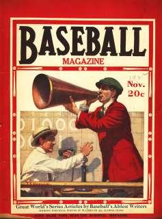 NOVEMBER 1922 BASEBALL MAGAZINE WORLD SERIES NUMBER