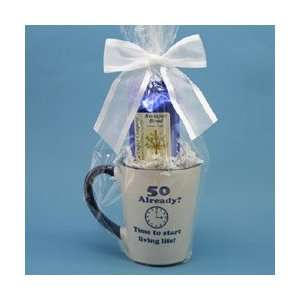 50 Already? Coffee Mug Gift Package   50th Birthday Gift