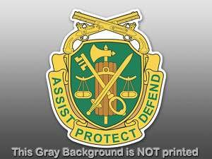 US Military Police Insignia Sticker  decal MP logo seal