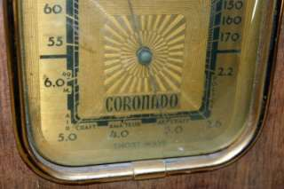 VINTAGE WOOD CORONADO SHORT WAVE RADIO WORKING CONDITION UNKNOWN