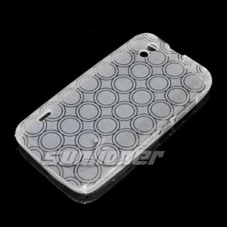 silicon case clear white color in default 1x screen protector