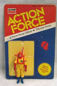 RARE vintage GI Joe Action Force SONAR OFFICER figure !