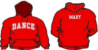 Dance Hoodie Custom Name & # Dancing Hooded Sweatshirt Team Hoodies