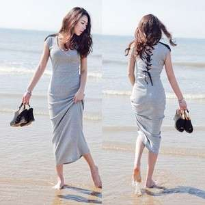 Sweet Lady Maxi Long Tops Mini Tieback Dress Soft Fashion Show