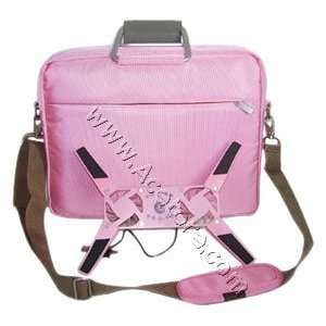 15.4 Laptop carrying bag with Notebook cooling Fan   Pink