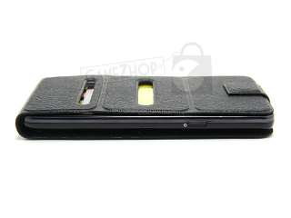 Slim Leather Flip Case Pouch Cover Black for Samsung Galaxy S2 SII