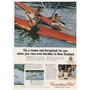 Maori Canoe New Zealand Canadian Club Whisky Print Ad