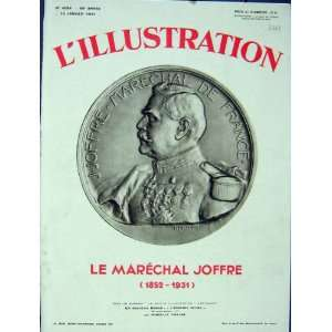 Portrait Coin Joffre Military France French Print 1931