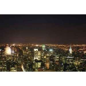New York City Skyline at Night   Peel and Stick Wall Decal