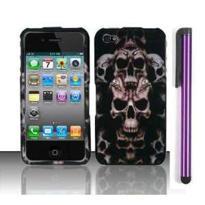 Apple Iphone 4, 4s Phone Protector Hard Cover Case Skull