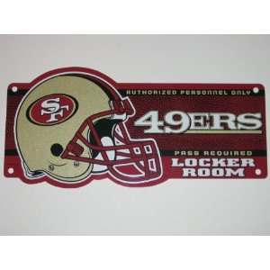 SAN FRANCISCO 49ERS 19 x 8 Plastic CLUBHOUSE LOCKER ROOM SIGN with