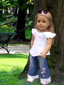 Doll Clothes fits American Girl Jeans Set NEW