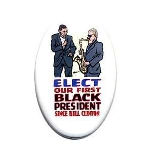preorder Obama08  1 3/4 x 2 3/4 oval button PIN PINBACK