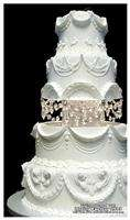 Swarovski Crystal Wedding Cake Tier Separator Set   8in and 10in Tier